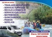 Transporte turístico, de personal y servicios generales.