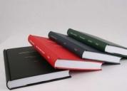 Encuadernación de libros contables.
