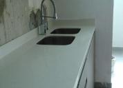 Muebles de cocina con tableros de granito cuarzo marmol