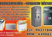 Reparacion y repuestos de refrigeradoras, congeladoras
