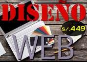 DiseÑo web tiendas virtuales creacion de pagina web administrable + hosting y dominio gratis