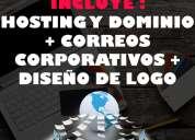 DiseÑo de pagina web + hosting y dominio + correos corporativos  tienda virtual logos diseÑo grafi