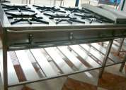 Cocina industrial c/s horno - instalacion gratis / a&a metalicos