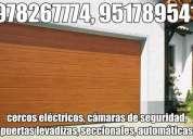 Cámaras de seguridad cusco, puertas seccionales, concertinas, barras antipánico, cercos eléctrico