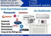 7222079 ¡instalacion de aire acondicionado york*/carier /* midea...tecnicos a1