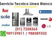 ***servicio tÉcnico*** linea blanca... lavadoras, secadoras, refrigeradoras, cocinas y mas!!!
