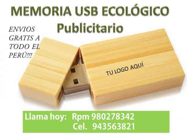 MEMORIA USB ECOLÓGICO USB PUBLICITARIO USB DE CUERO