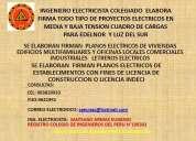 ingeniero electricista colegiado     elabora firma planos electricos, cuadro de cargas