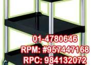 Carro de servicio 3 niveles marca rubbermaid