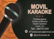 alquiler de karaoke en casa, karaoke delivery a domicilio (att producciones)