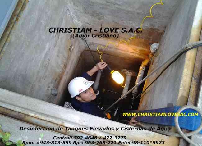 limpieza de tanques elevados y cisternas de agua