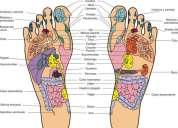 Medicinal masaje en la planta de los piés reflexoterapia podal