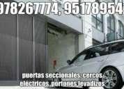 Paneles solares, electricidad industrial, cercos eléctricos, aire acondicionado, puertas levadizas