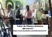 Cursos de dibujo y pintura para el publico en general.