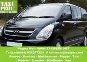 Alquiler de minivan hyundai h1 con y sin chofer