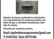 Alquiler de congeladoras ,hornos industriales y cocinas de 3 hornillas.