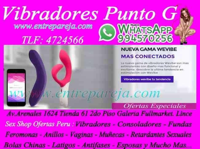 Sexshop ofertas san isidro - vibradores piel - consoladores para parejas T. 4724566 - 994570256