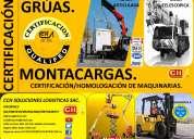 Capacitacion y certificacion de operadoores de montacargas