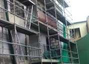 Fabricación andamios de fachada, multidireccionales, escaleras de acceso venta y alquiler andamios