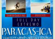 Tour paracas ica -  full day extremo