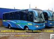 Alquiler de vehiculos para turismo y mineria