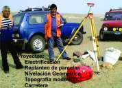 Servicio de replanteo con gps rtk, topografía con estación total,  servicio de drone