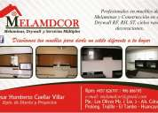 Melamdcor  (muebles de melaminas y sistemas drywall)