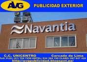 Especializados en letras de acero lima peru avg fabricación de letreros publicitarios