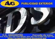 Avgletras de acero lima perú publicidad exterior fabricación de letreros publicitarios