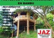 Arquitecto diseÑa y construye en bambu y madera, chiclayo, jaen, bagua grande