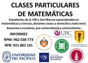 clases particulares de matematicas , fisica y quimica