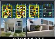Planos para vivienda, locales comerciales, sub divisiones, titulacion de predios.