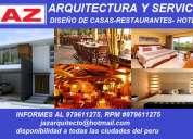 Arquitectos e ingenieros unprg, viviendas, restaurantes, hoteles, locales