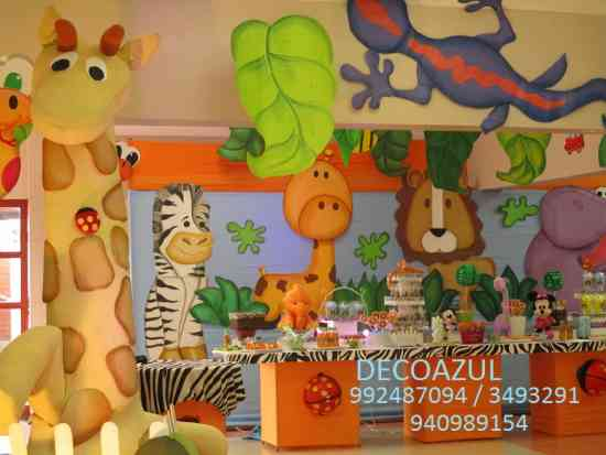 Decoracion De Fiestas Infantiles Safari Selva Lima La
