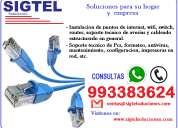 Instalacion de redes, internet, wifi, reparacion de pc, impresoras, cabinas de internet 993383624
