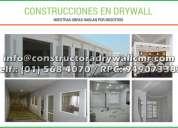 Expertos en sistema drywall para departamentos de 2 niveles y oficinas, ampliacion y remodelacion
