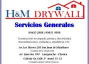 drywall servicios generales construcciones