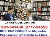 Compro libros de todos los generos usado y nuevo.empresa la  casa del lector