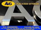 Letreros luminosos diseño y venta avg lima peruletras de acero avg letreros luminosos