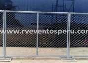 Alquiler de mallas perimetricas para conciertos