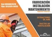 Servicio de mantenimiento instalación de extractores de aire y ductos de ventiación