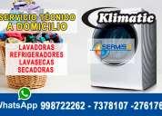 !!servicio tecnico de lavadoras y secadoras!! klimatic ' a1' 7992752 -san martÍn de porres