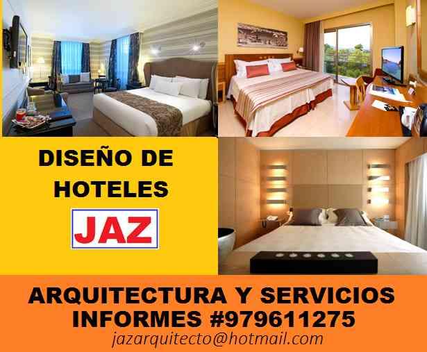 ARQUITECTO DISEÑADOR DE HOTELES, dormitorios, baños, piscinas, bungalos
