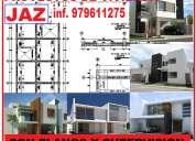 Planos para vivienda, arquitectura, cimientos, aligerados, electricas y sanitarias