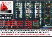 Autocad servicios, planos de arquitectura e ingenieria, levantamientos, digitacion, actualizacion