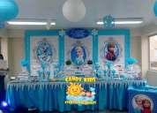Frozen decoracion candy bar fiestas infantiles lima