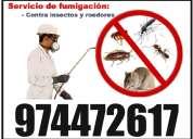Servicio de fumigacion  en trujillo. olvidate de los parasitos  llamame  974472617