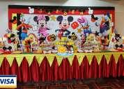 DecoraciÓn fiestas infantiles mickey mouse-minnie mouse lima