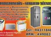 Reparacion y repuestos en general de refrigeradoras, congeladoras, lavadoras, microondas y mas