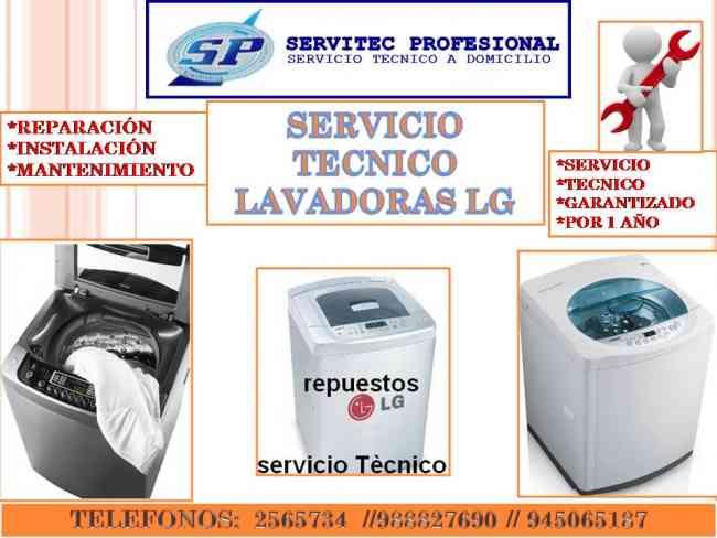 SERVICIO TECNICO LAVADORAS LG 923409456 MANTENIMIENTO LIMA